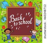 banner back to school boy girl... | Shutterstock . vector #460248712