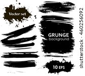 vector set of ink strokes.... | Shutterstock .eps vector #460256092