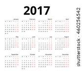 calendar 2017 layout template...   Shutterstock .eps vector #460256542