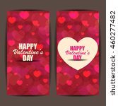 happy valentines day banner and ... | Shutterstock .eps vector #460277482