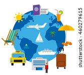 travel around the world concept ... | Shutterstock .eps vector #460279615