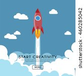 flat design of creativity...   Shutterstock .eps vector #460285042