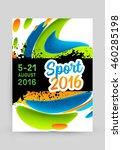 summer sport 2016 concept... | Shutterstock .eps vector #460285198