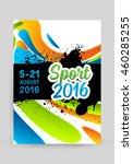 summer sport 2016 concept...   Shutterstock .eps vector #460285255