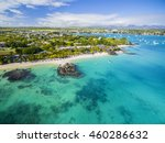 mauritius beach aerial view of... | Shutterstock . vector #460286632