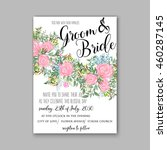 wedding invitation with... | Shutterstock .eps vector #460287145