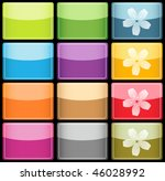 vector glassy colorful icons... | Shutterstock .eps vector #46028992