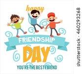 friendship day poster template | Shutterstock .eps vector #460293268