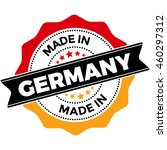 made in germany vector seal... | Shutterstock .eps vector #460297312