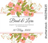 wedding invitation card with... | Shutterstock .eps vector #460298635