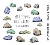 Set Of Stones  Pebbles  Gravel...