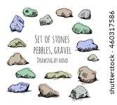 Set Of Stones  Pebbles  Gravel...