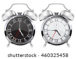 alarm clock. black and white... | Shutterstock . vector #460325458