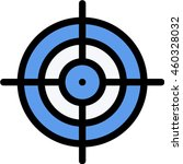 aim outline icon | Shutterstock .eps vector #460328032