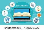online elearning education... | Shutterstock .eps vector #460329622