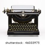 antique typewriter with paper | Shutterstock . vector #46033975