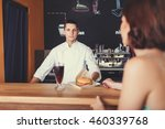 portrait of a customer at the...   Shutterstock . vector #460339768