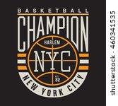 basket ball sport typography  t ... | Shutterstock .eps vector #460341535