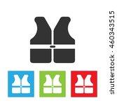 life vest icon. life vest logo... | Shutterstock .eps vector #460343515