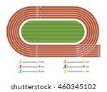 illustration of running track... | Shutterstock .eps vector #460345102