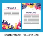 creative two page brochure ... | Shutterstock .eps vector #460345228