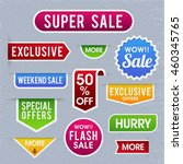 set of creative sale and... | Shutterstock .eps vector #460345765