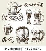 octoberfest. vector  beer... | Shutterstock .eps vector #460346146