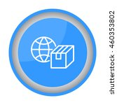 web line icon. world shipping ... | Shutterstock .eps vector #460353802