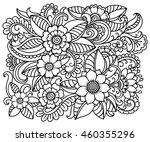 outline floral pattern for... | Shutterstock .eps vector #460355296