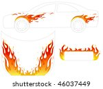 flame for vehicle  tattoo | Shutterstock .eps vector #46037449