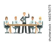 managers sitting on meeting... | Shutterstock .eps vector #460376575