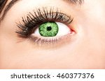 Woman Green Eye With Extremely...