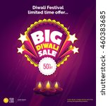 diwali big sale offer template... | Shutterstock .eps vector #460383685