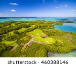mauritius beach aerial view of... | Shutterstock . vector #460388146