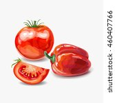 red vegetables. tomatoes and... | Shutterstock .eps vector #460407766