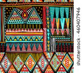 colorful seamless ethnic... | Shutterstock .eps vector #460407946