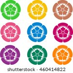 japanese family crests | Shutterstock . vector #460414822
