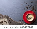 coffee cup background | Shutterstock . vector #460419742