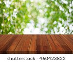 wood table top on bokeh... | Shutterstock . vector #460423822