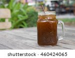delicious ice coffee americano... | Shutterstock . vector #460424065