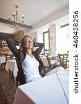 portrait of a happy and pretty... | Shutterstock . vector #460428256