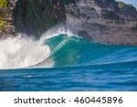 shorebreak big ocean wave near...   Shutterstock . vector #460445896