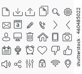 vector flat transparent icons... | Shutterstock .eps vector #460485022