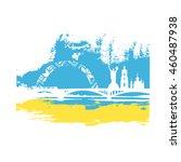 kiev.ukraine.vector... | Shutterstock .eps vector #460487938