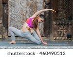 young teenager women practicing ... | Shutterstock . vector #460490512