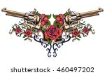 vector illustration of guns on... | Shutterstock .eps vector #460497202