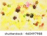 abstract brush strokes paint on ... | Shutterstock . vector #460497988