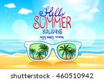 vector summer blurred beach ... | Shutterstock .eps vector #460510942