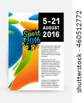 summer sport 2016 concept... | Shutterstock .eps vector #460512772