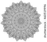 mandala ornament c black and... | Shutterstock .eps vector #460519996